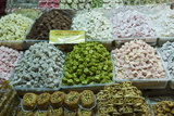 Turkish Delight and Baklava for Sale in Spice Bazaar, Istanbul, Turkey, Western Asia Photographic Print by Martin Child