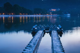 Kandy Lake and the Temple of the Sacred Tooth Relic (Sri Dalada Maligawa) at Night Photographic Print by Matthew Williams-Ellis
