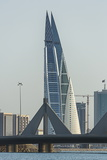 Bahrain World Trade Center, Manama, Bahrain, Middle East Photographic Print by Angelo Cavalli