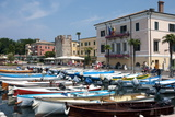 Boats Moored in the Harbour at Bardolino, Lake Garda, Italian Lakes, Lombardy, Italy, Europe Photographic Print by James Emmerson
