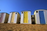 Beach Huts, Ventnor Beach, Isle of Wight, England, United Kingdom, Europe Photographic Print by Neil Farrin