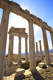 Temple of Trajan, Bergama (Pergamum), Anatolia, Turkey, Asia Minor, Eurasia Photographic Print by Neil Farrin