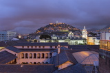 Metropolitan Cathedral and the Panecillo Hill at Night Photographic Print by Gabrielle and Michael Therin-Weise