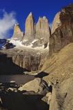 Rock Formation at Tierra Del Fuego National Park, Chile, Latin America Photographic Print by Nick Wood