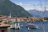 Lake Tourist Boat Arriving, Bellagio, Lake Como, Italian Lakes, Lombardy, Italy, Europe Photographic Print by James Emmerson