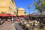 Open Air Restaurants in Cours Saleya Photographie par Amanda Hall