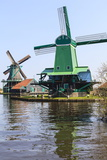 Preserved Historic Windmills and Houses in Zaanse Schans Photographic Print by Amanda Hall