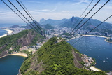 View over Botafogo and the Corcovado from the Sugar Loaf Mountain Photographic Print by Gabrielle and Michael Therin-Weise