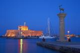 Mandraki Harbour, Rhodes City, Rhodes, Dodecanese, Greek Islands, Greece, Europe Fotodruck von  Tuul