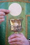 Celebration of the Eucharist, Catholic Mass, Villemomble, Seine-Saint-Denis, France, Europe Photographic Print by  Godong