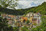 Historic Spa Section of Karlovy Vary, Bohemia, Czech Republic, Europe Photographic Print by Jochen Schlenker