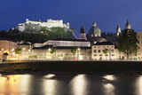 Old Town, UNESCO World Heritage Site, and Castle Hohensalzburg Photographic Print by Markus Lange