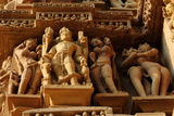 Sculptures on Jain Temple, Khajuraho, UNESCO World Heritage Site, Madhya Pradesh, India, Asia Photographic Print by Bhaskar Krishnamurthy