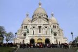 Stations of the Cross on Good Friday at the Sacre-Coeur, Montmartre, Paris, France, Europe Photographic Print by  Godong