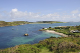 Looking over Towards Tresco from Bryher, Isles of Scilly, Cornwall, United Kingdom, Europe Photographic Print by Robert Harding