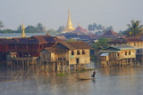 Nampan Village, Inle Lake, Shan State, Myanmar (Burma), Asia Reproduction photographique par  Tuul