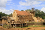 Medieval Site of the Castle of Guedelon, Puisaye, Burgundy, France, Europe Photographic Print by  Godong