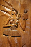 Carved Wooden Relief Depicting Candomble and Orisha by Artist Carybe, Afro-Brazilian Museum Photographic Print by  Godong