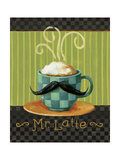Cafe Moustache VI Premium Giclee-trykk av Lisa Audit