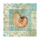 Shell Tiles III Blue Reproduction giclée Premium par Danhui Nai