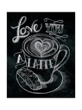 Love You a Latte Premium Giclee-trykk av Mary Urban
