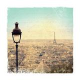 Eiffel Landscape Letter Blue I Giclee-tryk i høj kvalitet af Sue Schlabach