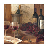 Vintage Wine Crop Premium Giclee Print by Albena Hristova