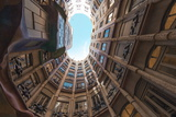 Interior Fish Eye View of La Pedrera (Casa Mila) Photographic Print by James Emmerson