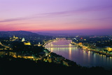 Panorama of the City at Dusk over the River Danube Photographic Print by Gavin Hellier