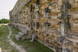 Detailed Wall at the Palace of Masks, a Mayan Site at Kabah in the Yucatan, Mexico, North America Photographic Print by John Woodworth