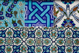 Decorative Ceramic Tiles, Cavalry Bazaar, Istanbul, Turkey, Western Asia Photographic Print by Martin Child