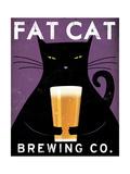 Cat Brewing Premium Giclee Print by Ryan Fowler