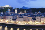 View over the Old Town of Salzburg Photographic Print by Markus Lange