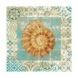 Shell Tiles I Blue Premium Giclee Print by Danhui Nai