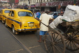 Bruno Morandi - Rickshaw on the Street, Kolkata, West Bengal, India, Asia Fotografická reprodukce