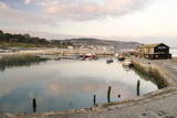 View Back to the Harbour at Lyme Regis Taken from the Cobb, Dorset, England, United Kingdom, Europe Photographic Print by John Woodworth