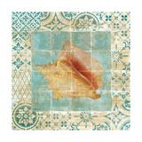 Shell Tiles IV Blue Premium Giclee Print by Danhui Nai