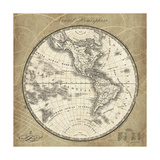 French World Map III Premium Giclee Print by Sue Schlabach