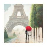 Paris Romance II Giclee-tryk i høj kvalitet af Marco Fabiano