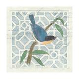 Monument Etching Tile I Blue Bird Premium Giclée-tryk af Hugo Wild