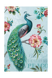 Blue Feathered Peacock I Premium Giclee Print by Lisa Audit