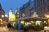 Snow-Covered Havelsky Trh During Christmas, Havelska Street, Prague, Czech Republic, Europe Photographic Print by Richard Nebesky
