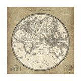 French World Map II Premium Giclee Print by Sue Schlabach