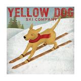 Yellow Dog Ski Co Giclee-tryk i høj kvalitet af Ryan Fowler