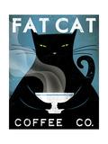 Ryan Fowler - Cat Coffee - Birinci Sınıf Giclee Baskı