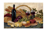 Tuscan Evening Wine Crop Reproduction giclée Premium par Silvia Vassileva