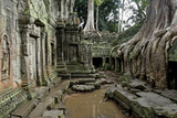 Ta Prohm Temple Dating from the Mid 12th to Early 13th Centuries Fotografie-Druck von Jean-Pierre De Mann