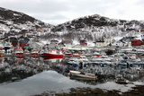 Fishing Boats in the Harbour at Skjervoy, Troms, Norway, Scandinavia, Europe Photographic Print by David Lomax