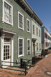 Row of Timber Framed Townhouses in Georgetown Photographic Print by John Woodworth