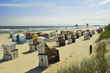 Beach Chairs, Usedom, Mecklenburg-Vorpommern, Germany, Baltic Sea, Europe Photographic Print by Jochen Schlenker